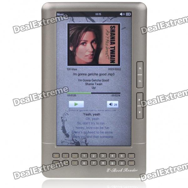 "7,0 ""LCD E-Book Reader Multimedia Player w / TF / Dual 3,5 mm Audio-Jacks - Iron Grey (4GB)"
