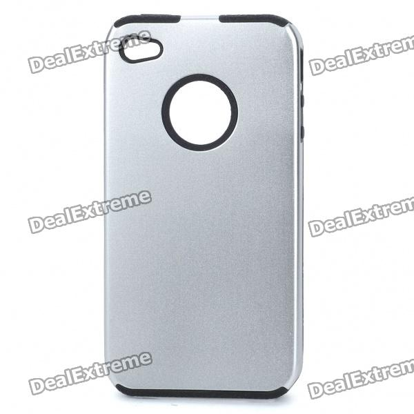 Protective Back Case for Iphone 4 - Silver