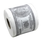 Luova 100 Dollar Bill Pattern Roll Tissue - Valkoinen + Deep green