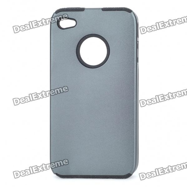 Protective Back Case for Iphone 4 - Grey