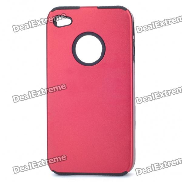 Protective Back Case for Iphone 4 - Red cool skull head style protective soft silicone back case for iphone 4 4s pink