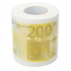 Creative 200 Euro Bill Pattern Roll Tissue - White + Yellow