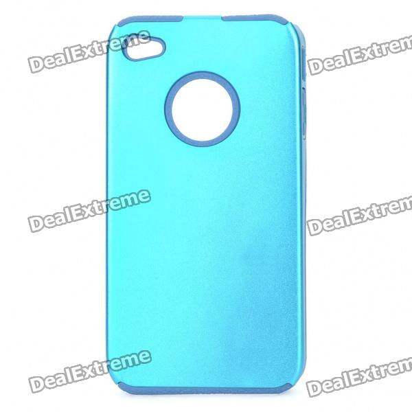 Protective Back Case for Iphone 4 - Blue cool skull head style protective soft silicone back case for iphone 4 4s pink
