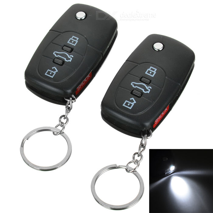 Shock-Your-Friend Car Remote Keyless Entry with LED Flashlight (2-Pack)