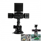 120° HD Super Wide Angle Dual Camera Driving DVR - Black