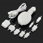 2-in-1 Universal Car Charger + Travel Charger with USB Port - White