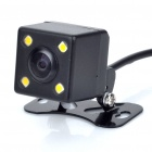 4-LED Waterproof Vehicle Car Rear View Camera Video - Black (12V/NTSC)