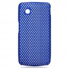 Protective Mesh Style PC Back Case for ZTE V880/U880  Dark Blue