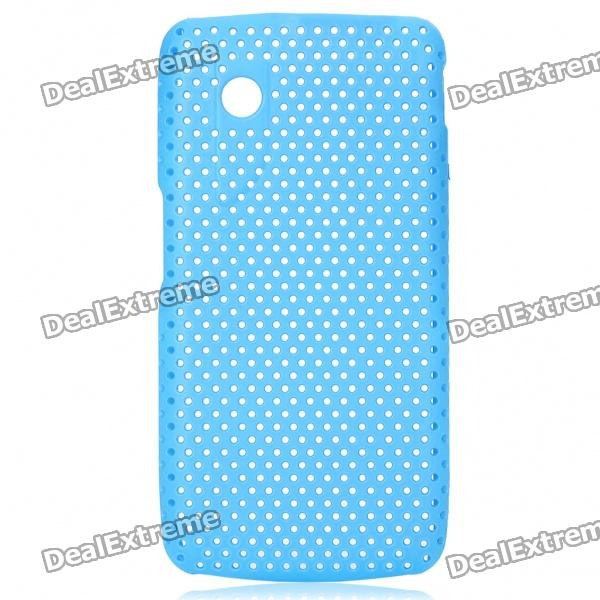 Protective Mesh Style PC Back Case for ZTE V880/U880  Blue