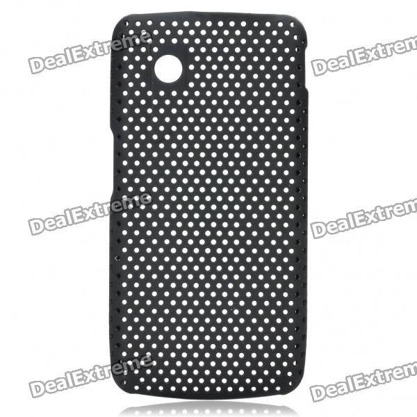 Protective Mesh Style PC Back Case for ZTE V880/U880 - Black
