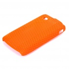 Protective Mesh Style PC Back Case for ZTE V880/U880  Orange