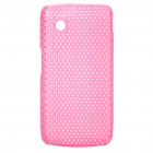 Protective Mesh Style PC Back Case for ZTE V880/U880 - Pink