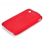 Protective Mesh Style PC Back Case for ZTE V880/U880 - Deep Red