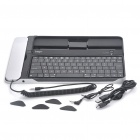 Bluetooth Keyboard with Skype Telephone for Ipad / Ipad 2 / Iphone 3g/4/4S - Black + Silver