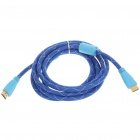 Gold Plated HDMI V1.3 Male to Male Connection Cable - Blue (3m-Length)