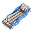 Aluminum Alloy 6-in-1 Multi-Tool Bicycle Repair Kit - Blue