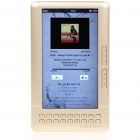 "7.0"" LCD E-Book Reader Multimedia Player w/TF/Dual 3.5mm Audio Jacks - Champagne (4GB)"