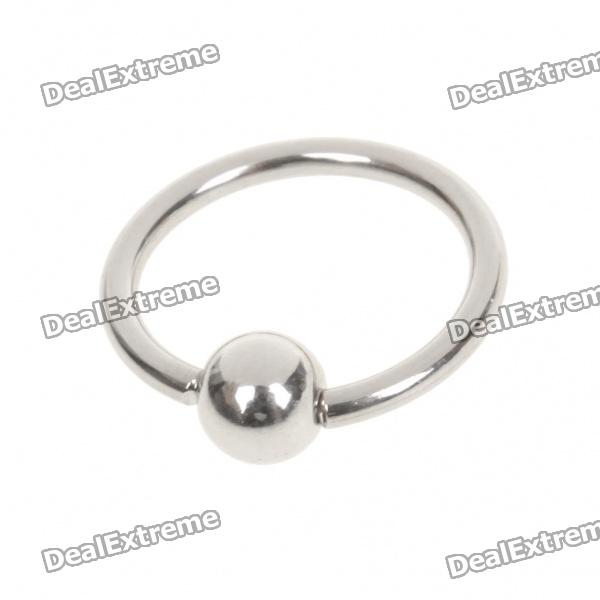6mm 316L Surgical Steel Multifunction Body Piercing Ring - Silver