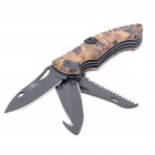 Outdoor Multi-Purpose Pocket Steel Knife - Camouflage