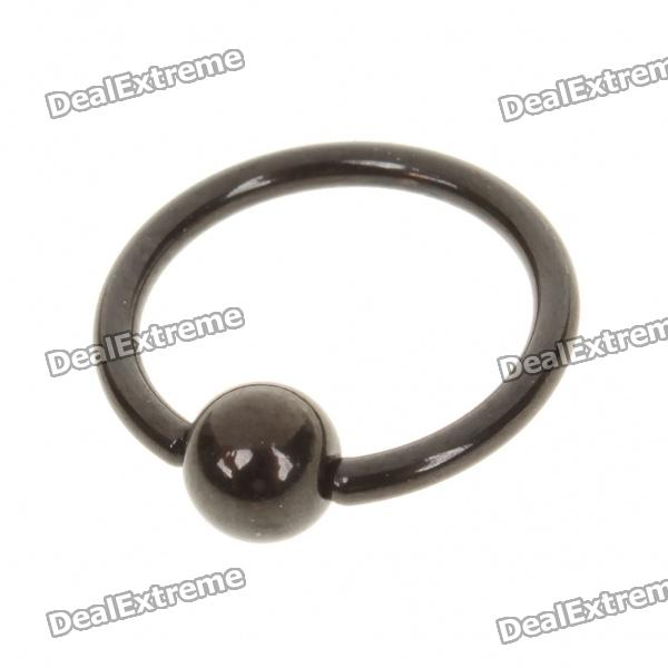 10mm 316L Surgical Steel Multifunction Body Piercing Ring - Black