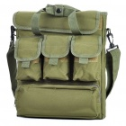 Outdoor War Game Protective Oxford Cloth Shoulder Bag/Handbag for Laptop Notebook - Army Green
