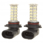 HB4/9006 2.5W 7000K 280-Lumen 68-3528 SMD LED White Light Bulbs (DC 12~14V/Pair)