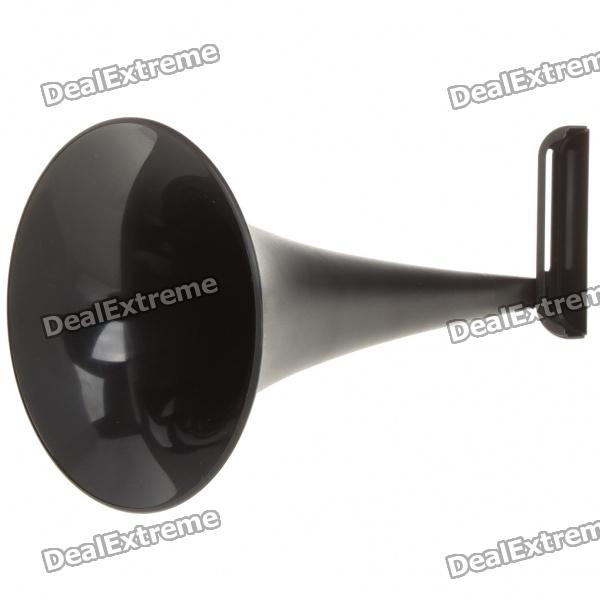 Analog Acoustic Horn Stand Amplifier Speaker for Iphone 4 - Black