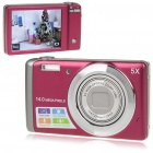 5.0MP Digital Camera Camcorder w/ 5X Optical Zoom/AV-Out/SD (3.0