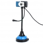 USB Flexible Neck 300KP CMOS Driverless Webcam w/ Microphone & 2-LED Night Light