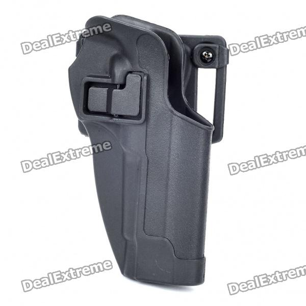Tactical Military Gun Pistol Holster + Waist Clip - Black