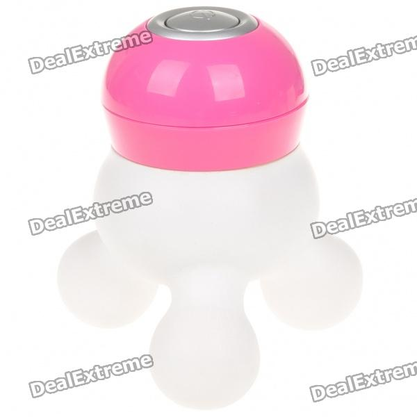 Mini Tri-Leg Body Massager - Deep Pink + White (3 x AAA)