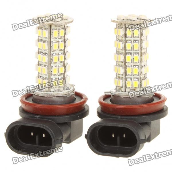 H11 2.5W 7000K 180-Lumen 68-3528 SMD LED Light Bulbs (DC 12~14V/Pair)