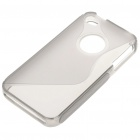 "Protective ""S"" Back Case for Iphone 4/4S - Transparent Grey"