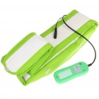 Vibrating slimming Massage Belt - White + Green (AC 100~240V)