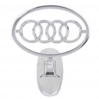 Decorative Audi Stand Badge Emblem Sticker - Silver