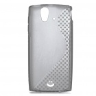 Protective TPU S Back Case Cover for Sony Ericsson ST18i - Translucent Gray