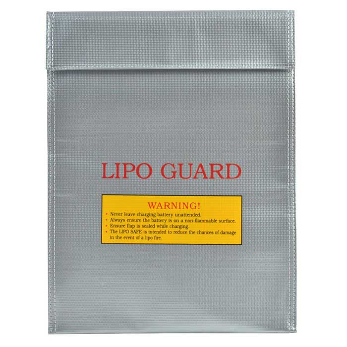 Feuerfeste LiPo Lithium-Polymer-Akku Safety Guard Bag - Silver Grey