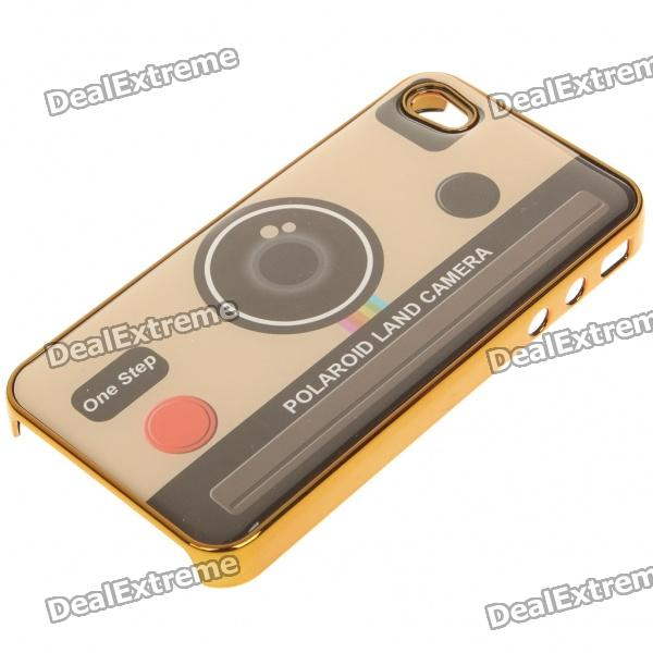 Creative Retro Protective Back Case for iPhone 4 (Random Pattern)