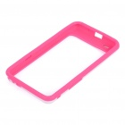 Protective Bumper Frame for Samsung i9100 Galaxy S2 - Deep Pink + White