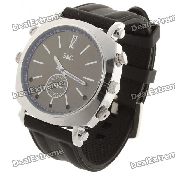2.0MP USB Rechargeable Spy Pin-Hole Camera Camcorder w/ Night Vision Disguised as Wrist Watch (8GB)