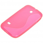 "Protective ""S"" Back Case for HUAWEI M865/C8650 - Transparent Deep Pink"