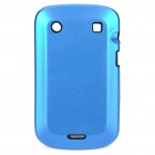 Protective Aluminum Alloy Cover Silicone Back Case for BlackBerry 9900 Bold - Dark Blue