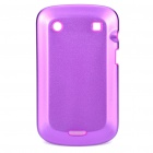 Protective Aluminum Alloy Cover Silicone Back Case for BlackBerry 9900 Bold - Purple