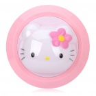 Cute Hello Kitty Warm White Light Desktop Clap Lamp - White + Pink (4 x AA)
