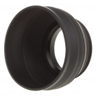 49mm 3-Fold Rubber Lens Hood - Black