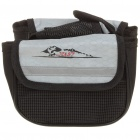 JUST Bike Bicycle Frame Pannier Front Tube Canvas Bag - Silver + Black