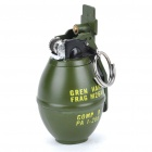 Stainless Steel Military Grenade Bomb Shaped Butane Lighter with Flints