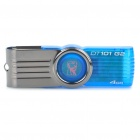 Genuine Kingston USB 2.0 Flash Drive - Blue + Silver Grey (4GB)