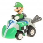 Cute Mini Mario Figure Pull-Back Car - Luigi