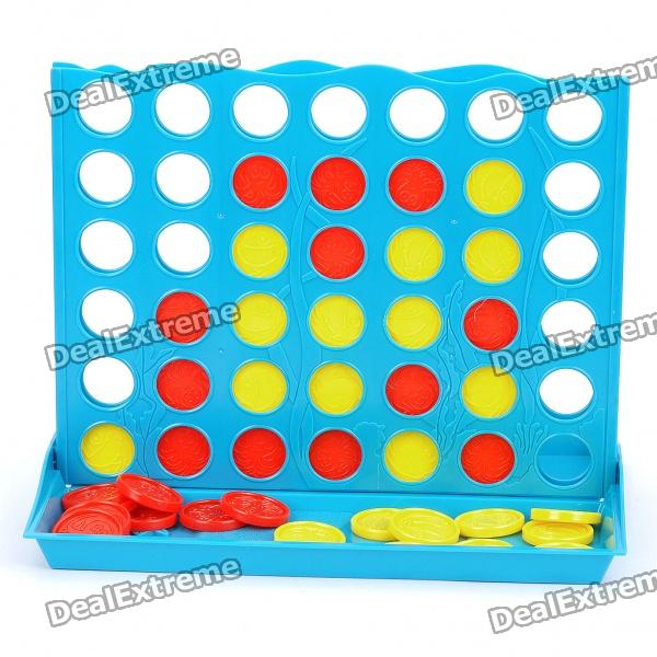 Plastic Intelligent Connect Four Set Juego